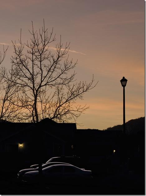 sunset in jan