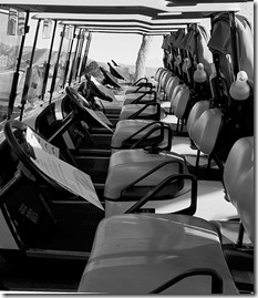 Golf Carts B&W