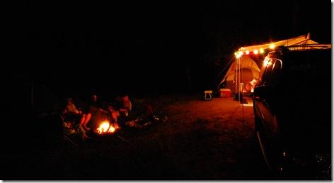 Gunnison campsite fire