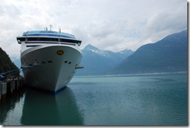 Island Princess in Skagway