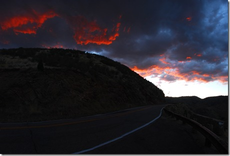 Red Clouds on Lookout Mtn
