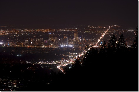 Denver Night from Lookout Mtn