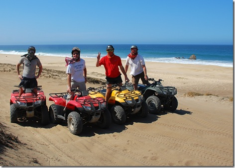 Four ATV at the Beach