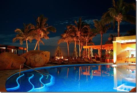 Poolside Night