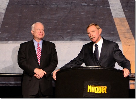 John McCain and Rabbit at Tailhook 2011
