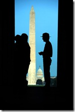 Lincoln Memorial Ranger Silouette
