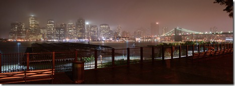 lower manhattan fog pano