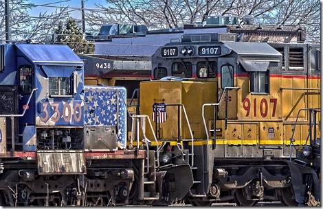 Union Pacific Engines 1 HDR