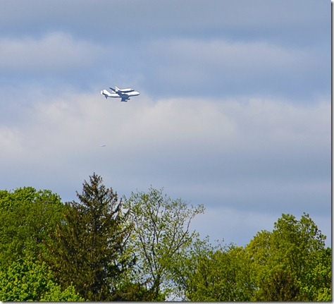 shuttle fly-by