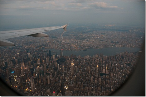 Approach over NYC