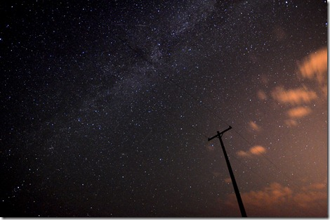 Milky Way Telephone pole