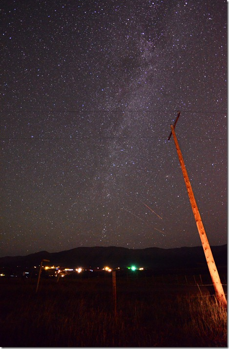 Milky Way Telephone pole 3