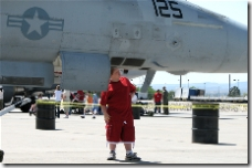 A youngster tries to figure out the Pitot tube