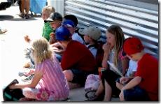 Kids enjoying the shade