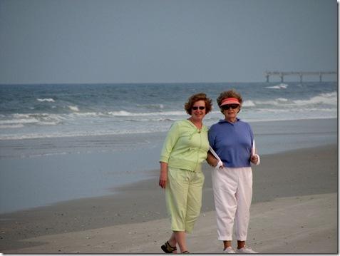 Mom and kelly at Jax Beach