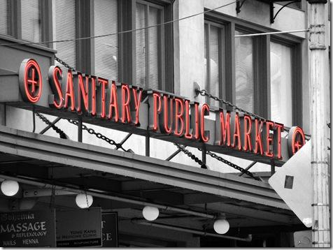 Sanitary Public market