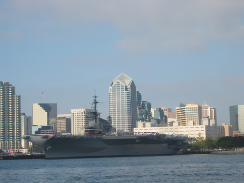 USS Midway from San Diego Bay